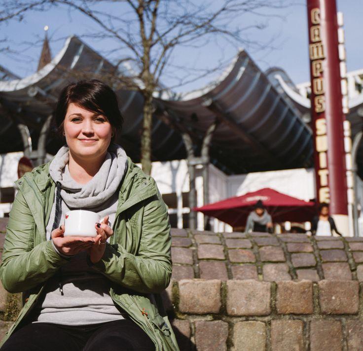 Das Lieblingscafé von Franziska Fehse aus dem Fachbereich Soziale Arbeit und Gesundheit ist die Campus Suite am Europaplatz.