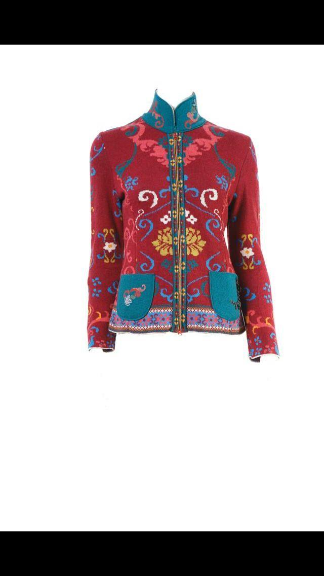 Wool crop jacket