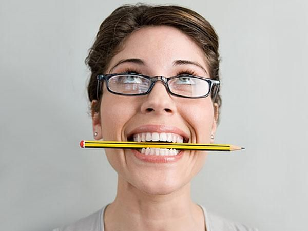 Relieve tension headaches by clenching a pencil between your teeth. it relaxes the jaw muscle that is strained. works only for tension headaches though.