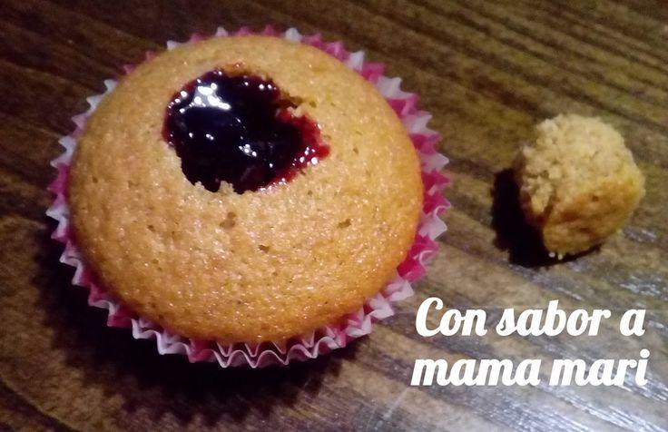 Con sabor a mama mari: Cupcakes de calabaza y arandanos (Cupcakes sangran...