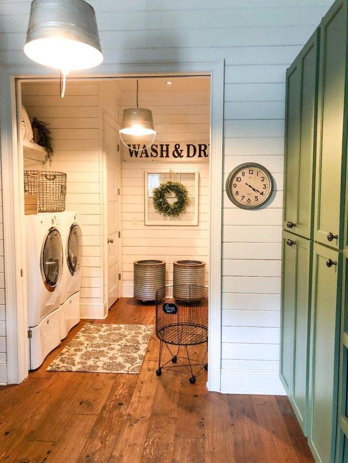 Feature Friday Big Family Little Farmhouse Farmhouse Style Laundry Room Design Farmhouse