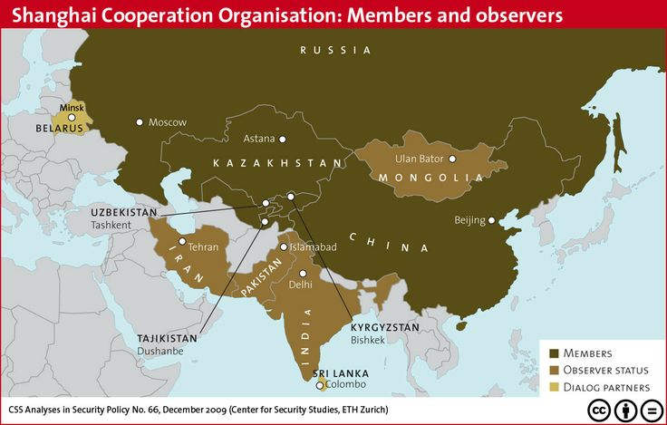 Shanghai Cooperation Organization: Members and observers