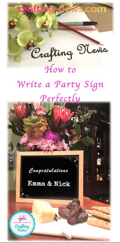 How to Write a Party Sign Perfectly! DIY Party Decor