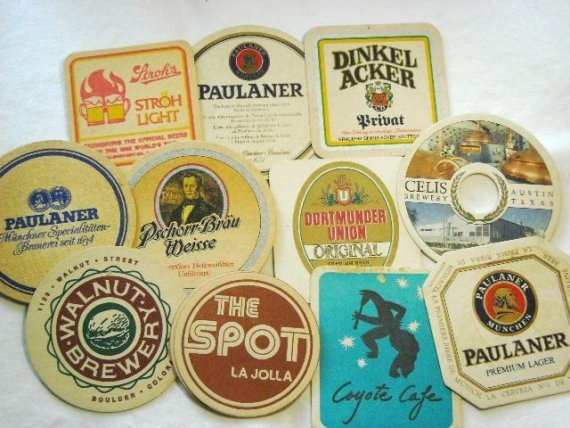 collecting beer coasters vintage