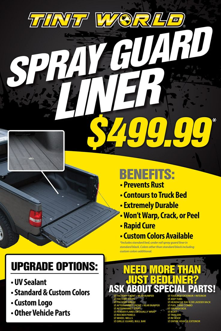 Tint World Brand Spray-Guard Bedliner