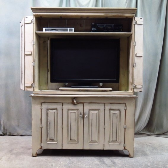 17 best images about hide your flat screen tv on pinterest for Tv cabinets hidden flat screens