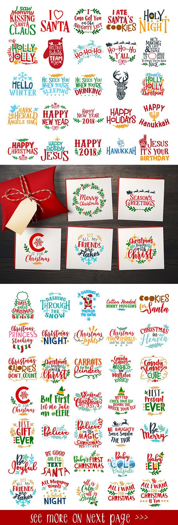 Christmas Svg Christmas Bundle Svg Christmas Svg Bundle Christmas Files Bundle Cut Files Silhouette Studio Cricut ScanNCut Svg Dxf Png Cdr