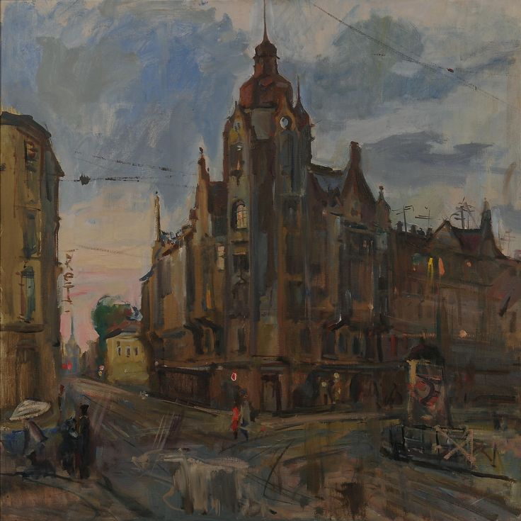 ДОМ НА ВОЗНЕСЕНСКОМ #картина #пейзаж #landscape #house #painting #art #Петербург #видыпетербурга https://goo.gl/C2pPY8