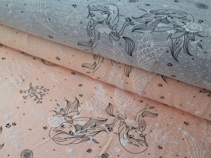 Kinderstoffe - Jersey, Water Symphony, apricot - ein Designerstück von PhOSI bei DaWanda
