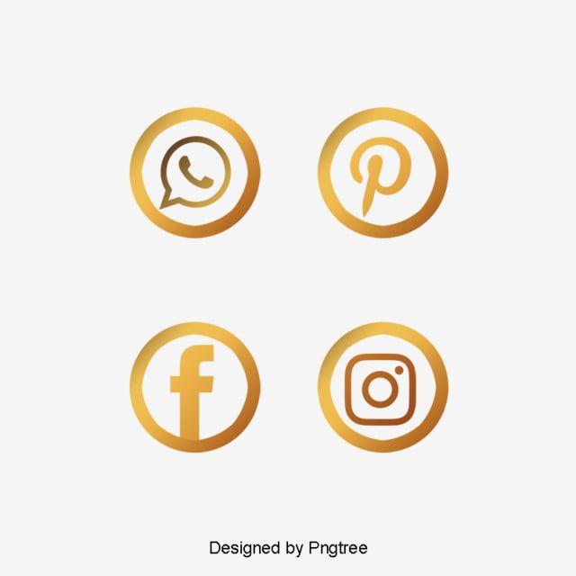 Iconos Sociales De Pincel De Oro Vector Png Oro Icono Dorado Png Y Psd Para Descargar Gratis Pngtree In 2020 Social Icons Branding Design Logo Instagram Logo