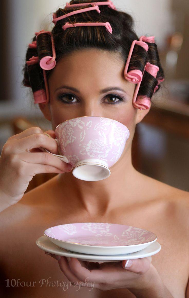 #Bride #Pink #TeaCup #Curlers #Wedding #WeddingPhotography #10fourPhotography www.facebook.com/10fourPhotography #SouthAfricanPhotographer #WeddingPreparation