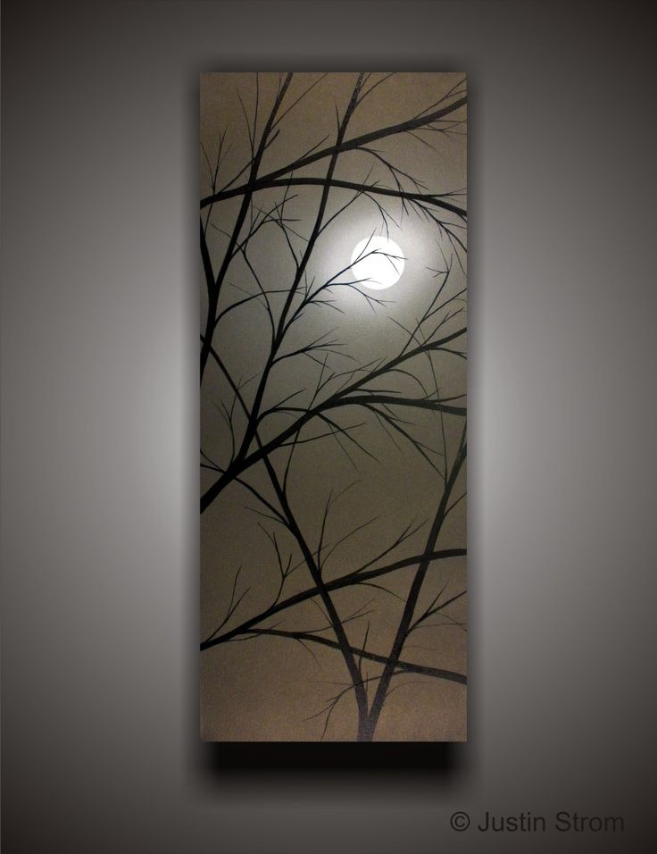 Moonlight-------Made To Order Original Abstract Painting by Justin Strom Large 40 x 16 Deep Gallery Canvas With Color Shifting Metallic. $189.00, via Etsy.