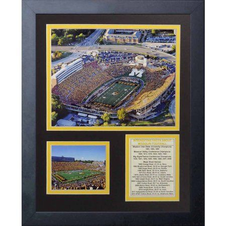 Legends Never Die Missouri Tigers Faurot Field Framed Photo Collage, 11 inch x 14 inch