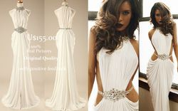 Online Shop Real Made Sexy Vestidos De Fiesta Crystal Beaded High Neck White Mermaid Long Prom Dress 2014 F&M-800|Aliexpress Mobile