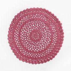 Adairs Kids Crochet Round Rug Pink Rugs
