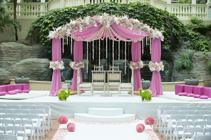 Pink Dome Front Mandap
