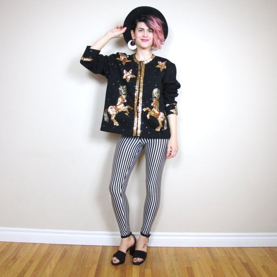 Image result for black and gold cardigan art deco