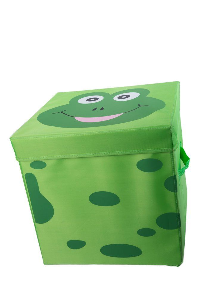 Kids Cushion Top Frog Collapsible Toy Storage Organizer By Clever Creations Toy Box Folding Stor Toy Storage Organization Folding Storage Ottoman Kids Ottoman