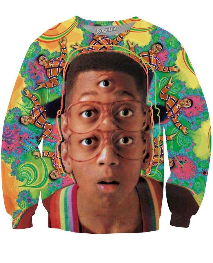 Psychedelic Urkel Crewneck Sweatshirt