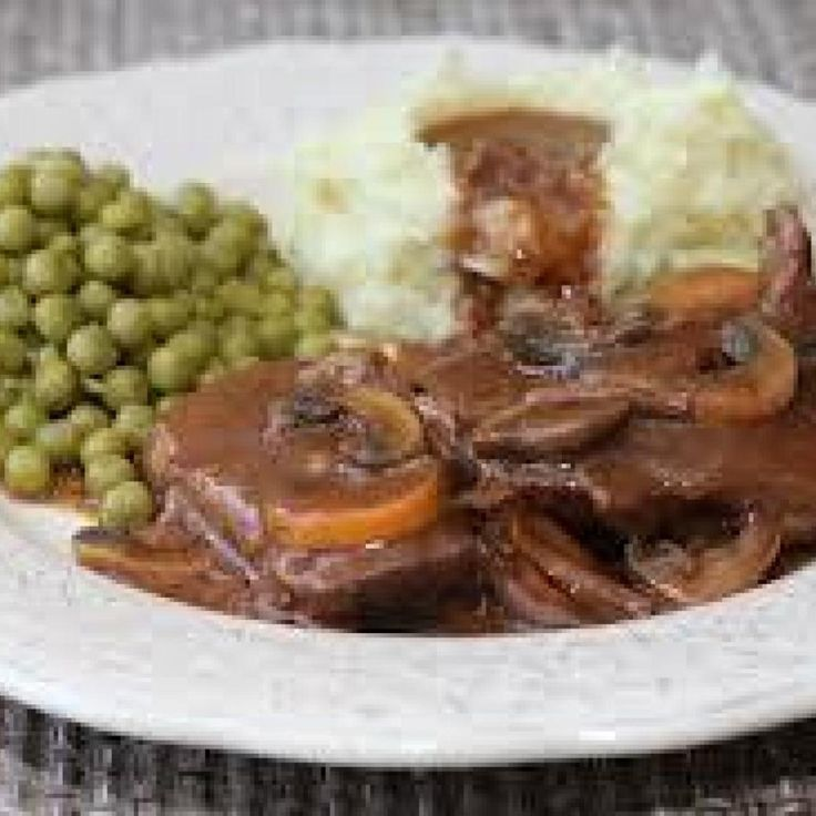 Pot roast, with golden mushroom soup ~ (easy as 123 and so delicious).