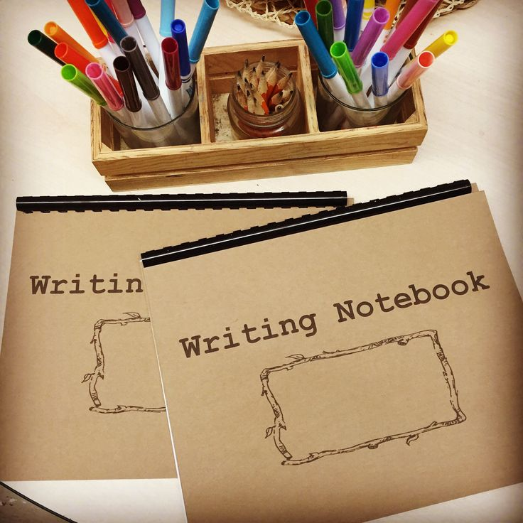 Writer's Workshop. Printable notebook cover for writer's workshop plus instructions on how to implement writer's workshop in Kindergarten.