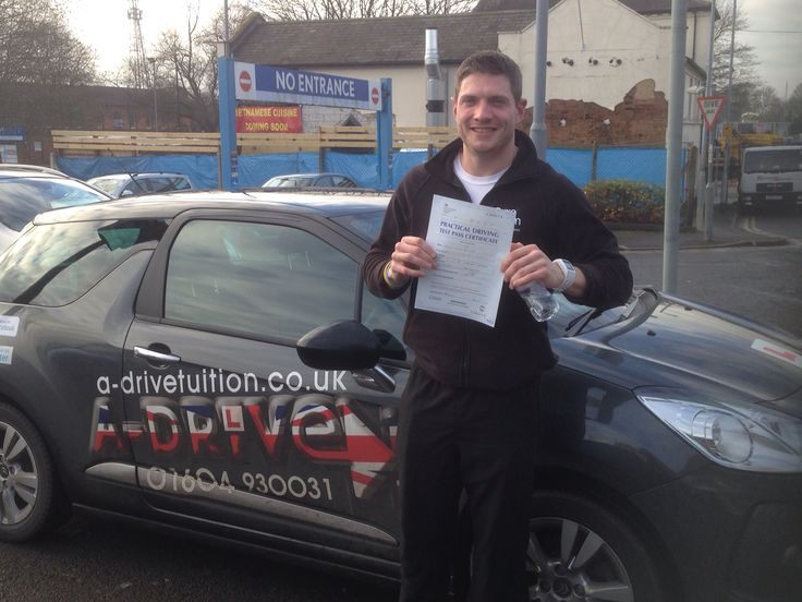 """Congratulations Kev De-Lara of Pure Gym Northampton for passing his #DrivingTest 5/1/15 at Northampton Driving Test Centre with Andy McIntosh of www.adrivetuition.co.uk  01604 930031  #Driving #Adrive #DrivingTest #DrivingSchools #DrivingLessons #DrivingInstructors #Northampton #Daventry #Towcester #Wellingborough #Northants  Kev said """" Thanks for everything you did Andy. You were very patient and made me feel ready to take the test"""""""