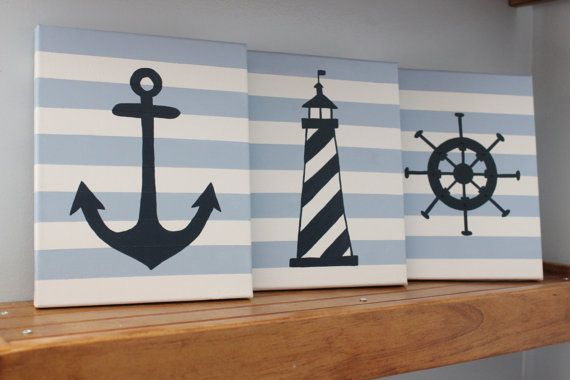 nautical nursery wall decor baby boy girl by JessieAnnCreations, $50.00