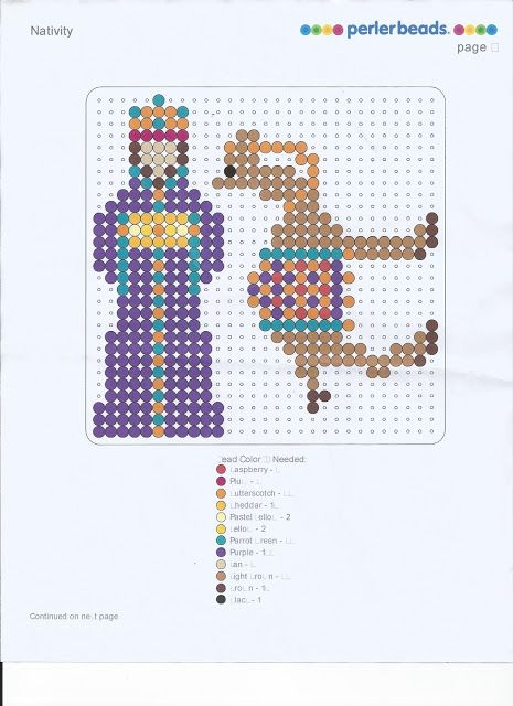 Almost Unschoolers: The Very First Noel and a Perler© Bead Nativity
