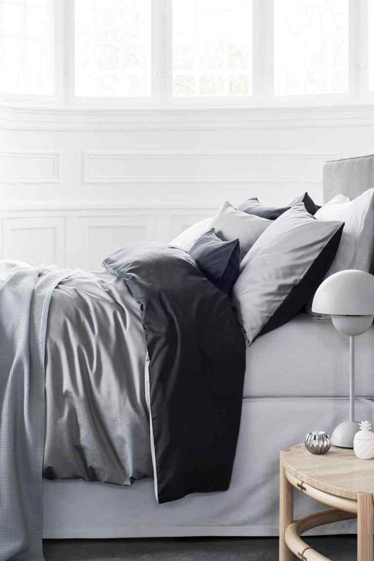 Атласное постельное белье | H&M