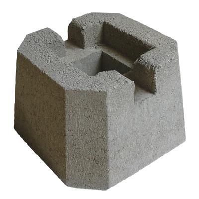 Decor precast dec or post 12059048 home depot canada Floating deck cinder blocks