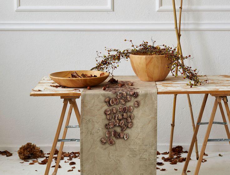 Tischläufer, Nüsse im Herbst von Apelt, Artikel 7914