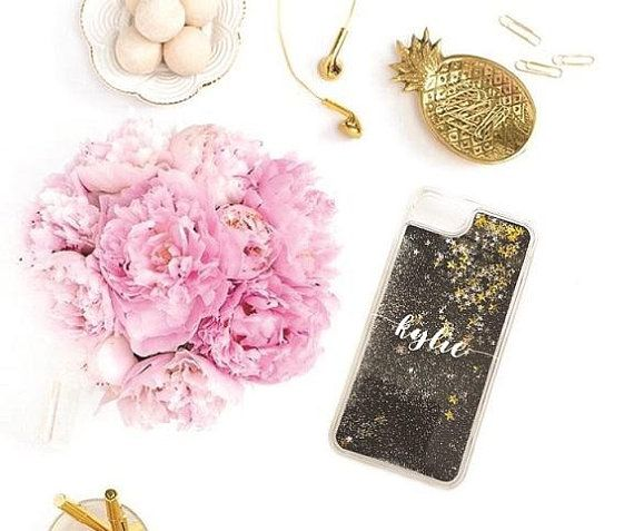 Glitter iPhone case. Personalized #glitter #iphonecase #iphone7 #personalized