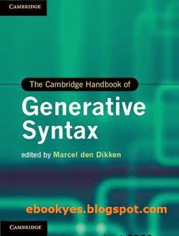 Free ebooks: The Cambridge Handbook of Generative Syntax