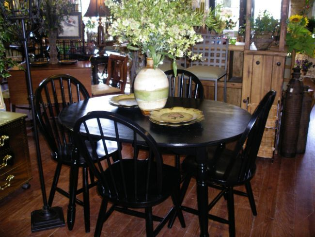 kitchen table repainted black home decor pinterest