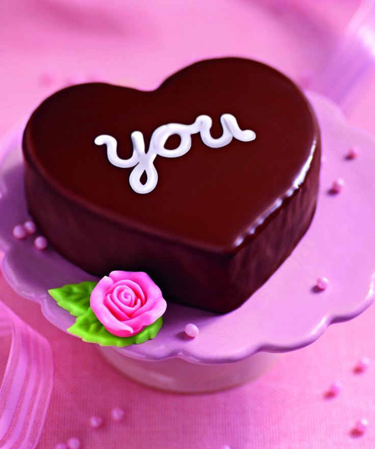 Mini-Herz-Kuchen Leckere Geschenkidee in Herzform für die Liebsten