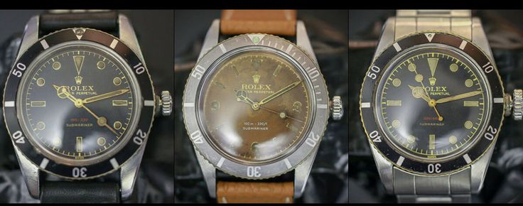 Cool Finds: ultra-rare early Rolex Submariner ref. 6536 and Ref. 6538 watches for sale - Monochrome-Watches