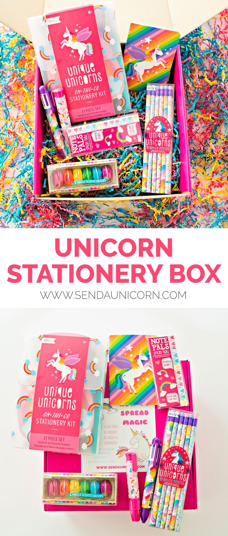 Stationery Gift Set Stationery set, Stationery, Unicorn
