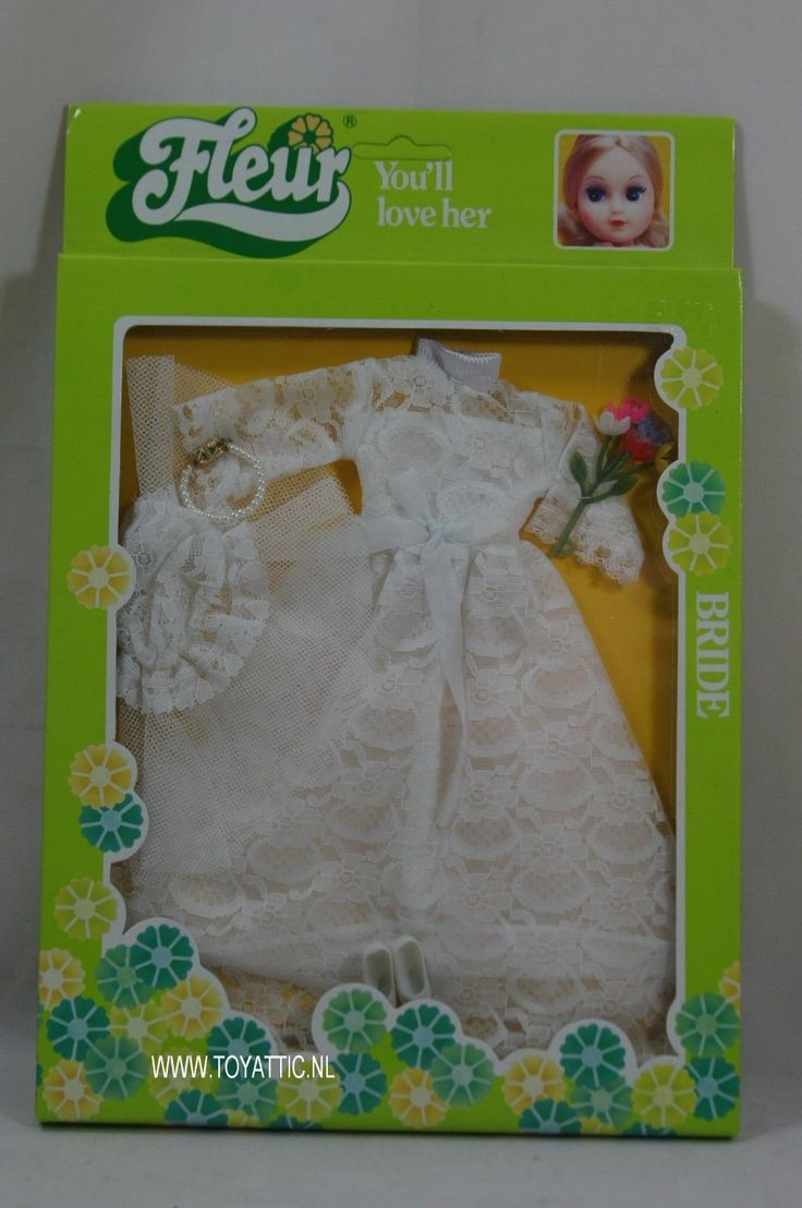Fleur ( dutch Sindy ) fashion set bride wedding dress no. 385-1220 New - NRFB | eBay