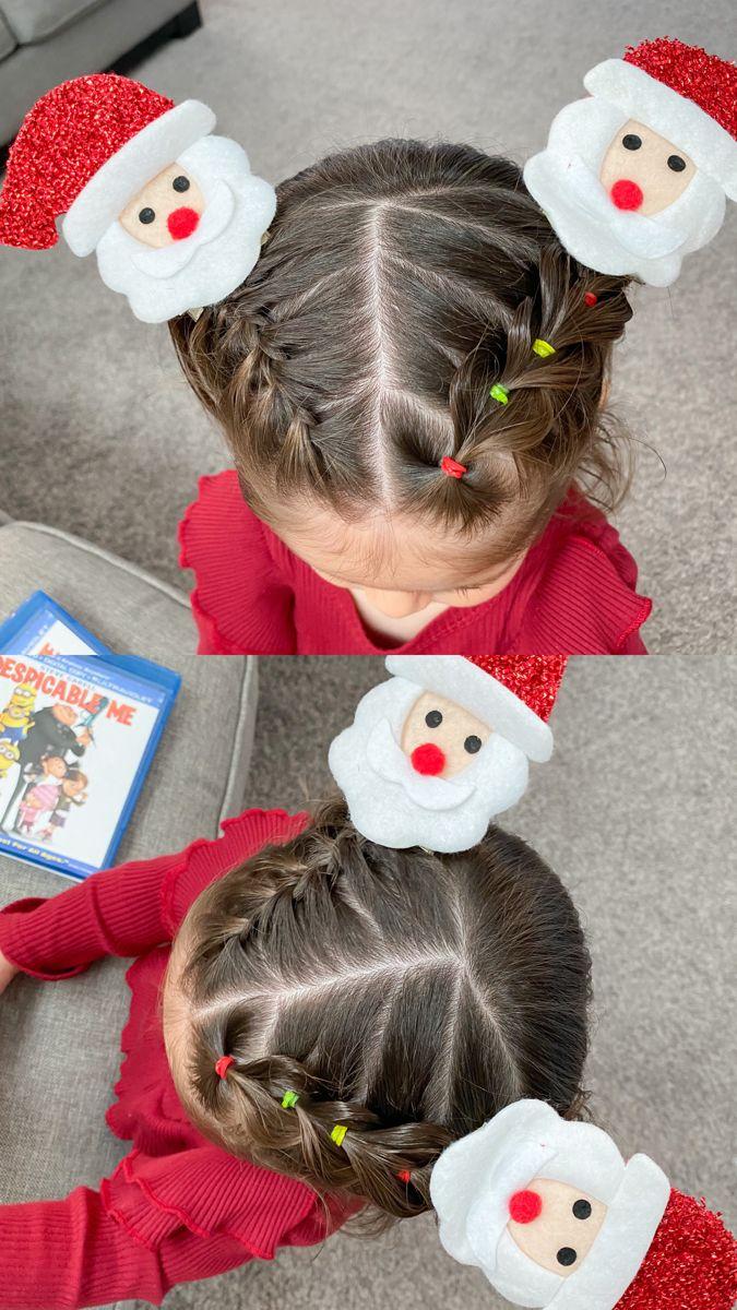 Cute Christmas Hairdo Cute Toddler Hairstyles Baby Hairstyles Kids Hairstyles