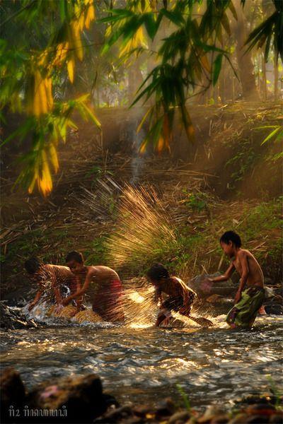 ♂ Take a Bath My friend yeehaaaby~riorr Asian boys play water together