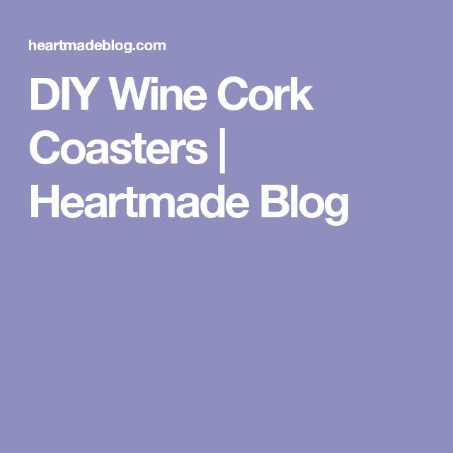 how to make cork coasters