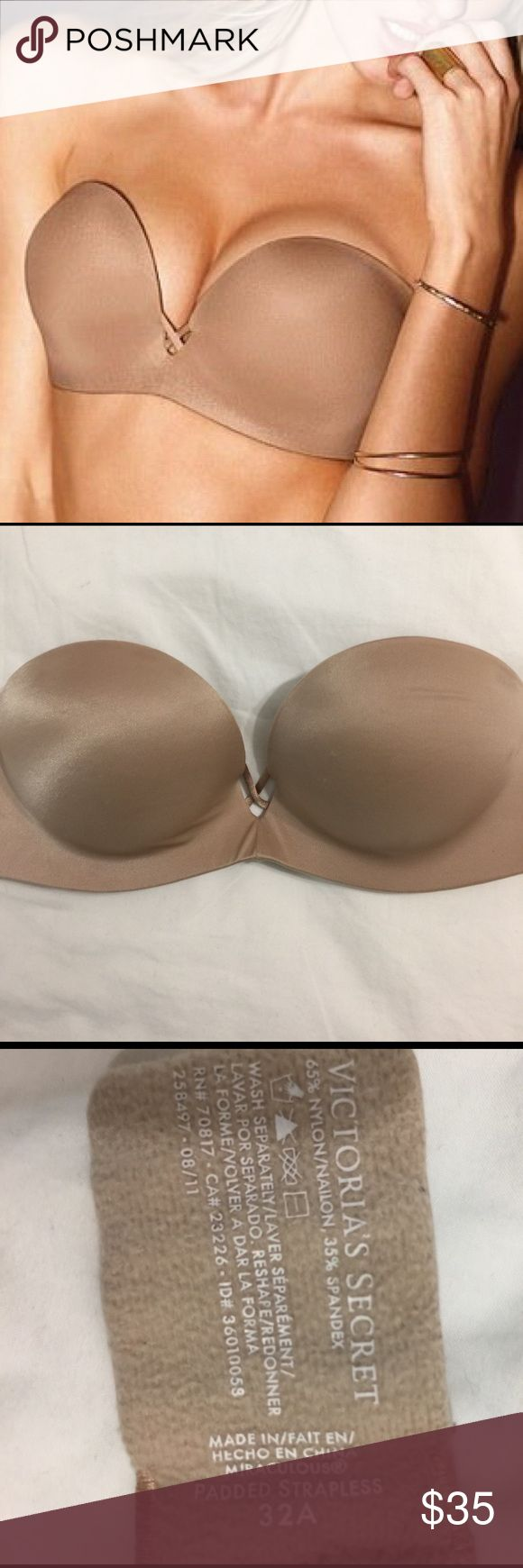 Victoria Secret Bombshell Push-Up Bra This Victoria Secret bombshell push-up bra promises to add two cups to your regular breast size. It has great support, does not slip and was used very very few times! Victoria's Secret Intimates & Sleepwear Bras