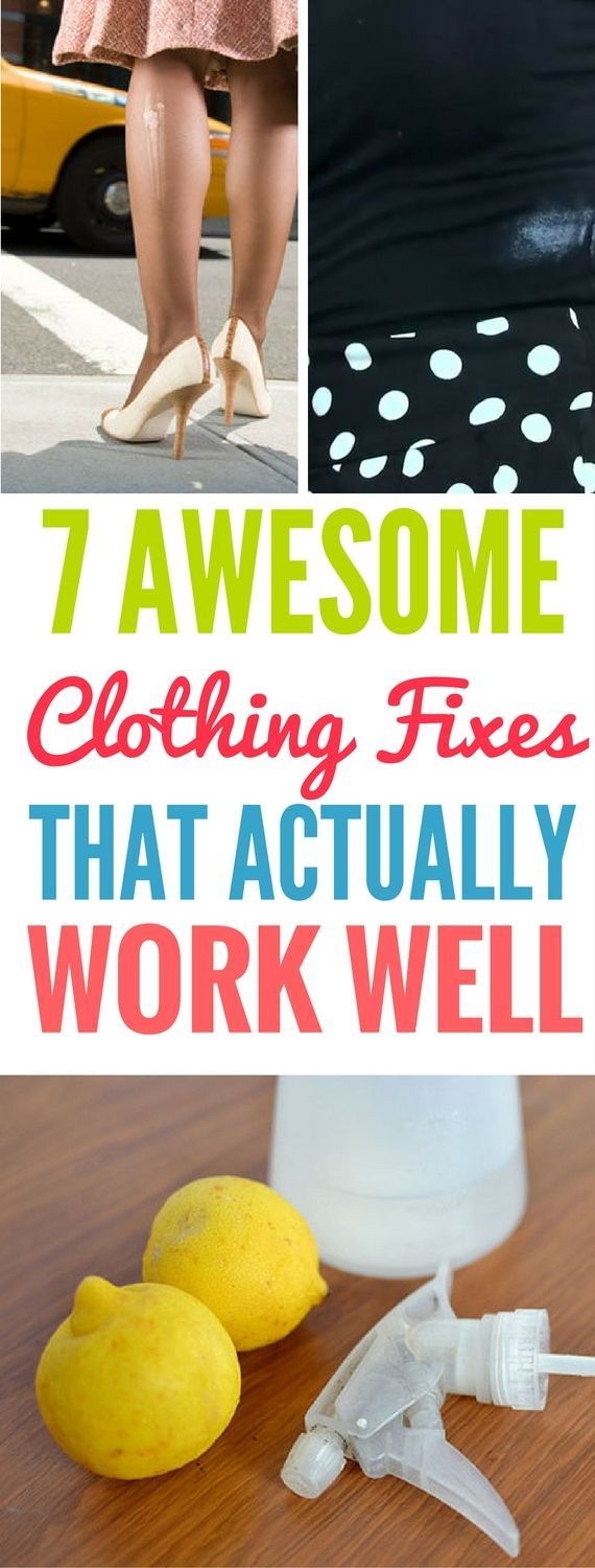 7 Essential Clothing Fixes And Hacks Every Girl Needs To Know - Great tips that show you how to quickly fix your clothes. I'm really suprised. They DO WORK!