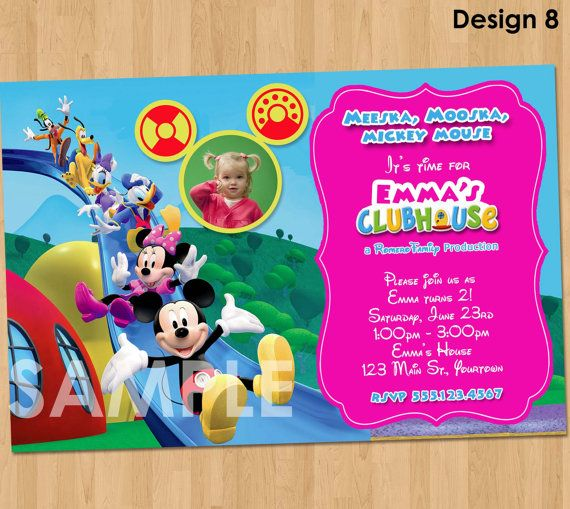 Minnie Mouse Invitation  Mickey Mouse by KidsPartyPrintables