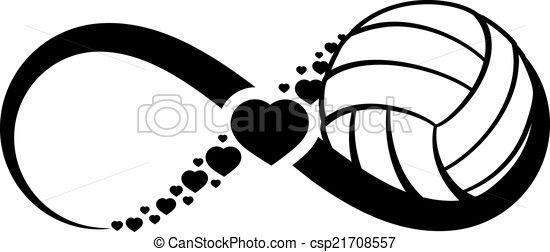 Vector - amor, infinito, voleibol - stock de ilustracion, ilustracion libre de, stock de iconos de clip art, logo, arte lineal, retrato de EPS, Retratos, gráficos, dibujos gráficos, dibujos, imágenes vectoriales, trabajo artístico, Arte Vectorial en EPS