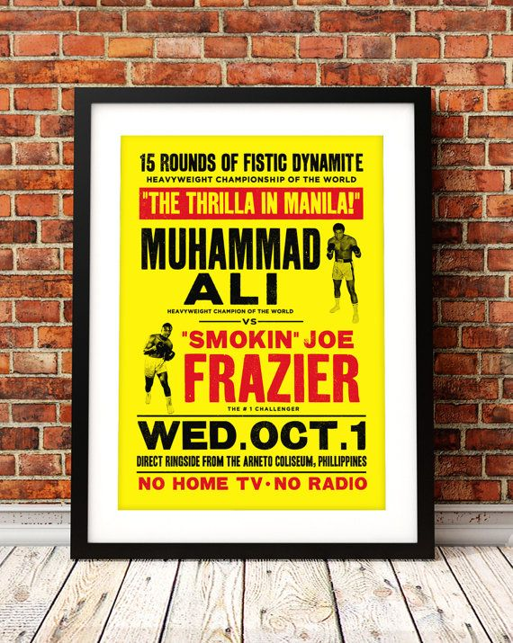 Muhammad Ali poster print Muhammad Ali Thrilla in by TheIndoorType