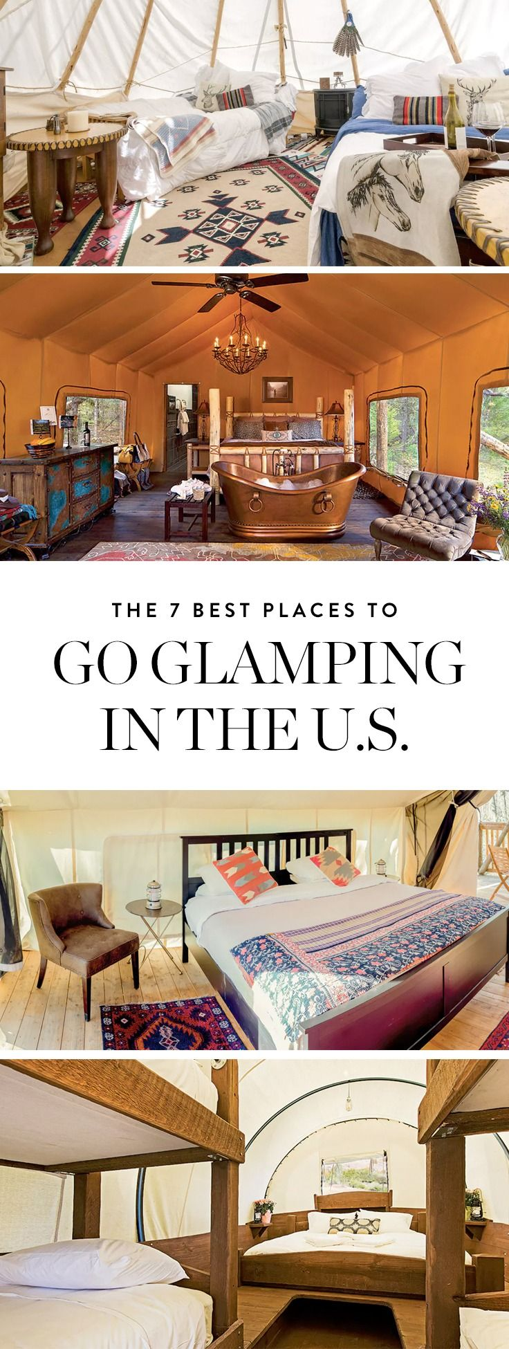 If you want to escape to nature with the luxury hot water and high thread-count sheets, go glamping at one of these 7 gorgeous campsites.