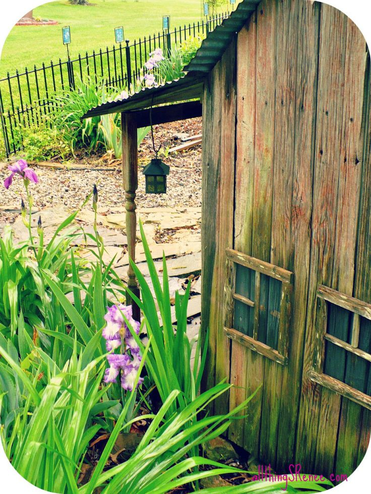 come take a look at my friends beautiful illinois flower garden the handmade garden village is made from reclaimed barnwood and other salvaged materials - Flower Garden Ideas Illinois