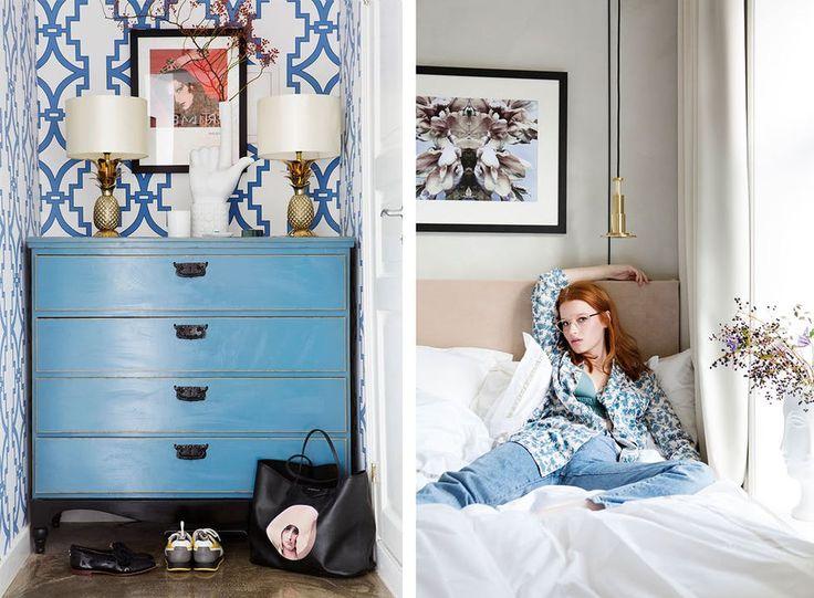 Kreativ og spesielt: interiør og klær. Modell Helene Hammer.