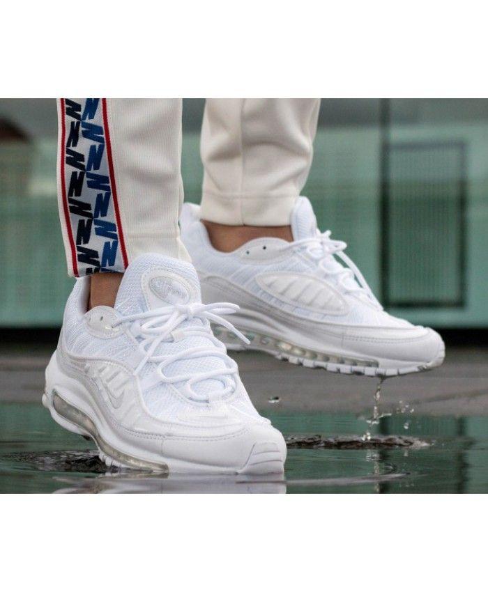 Nike Air Max 98 White Pure Platinum Black Reflect Silver